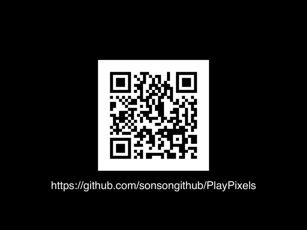 https://github.com/sonsongithub/PlayPixels