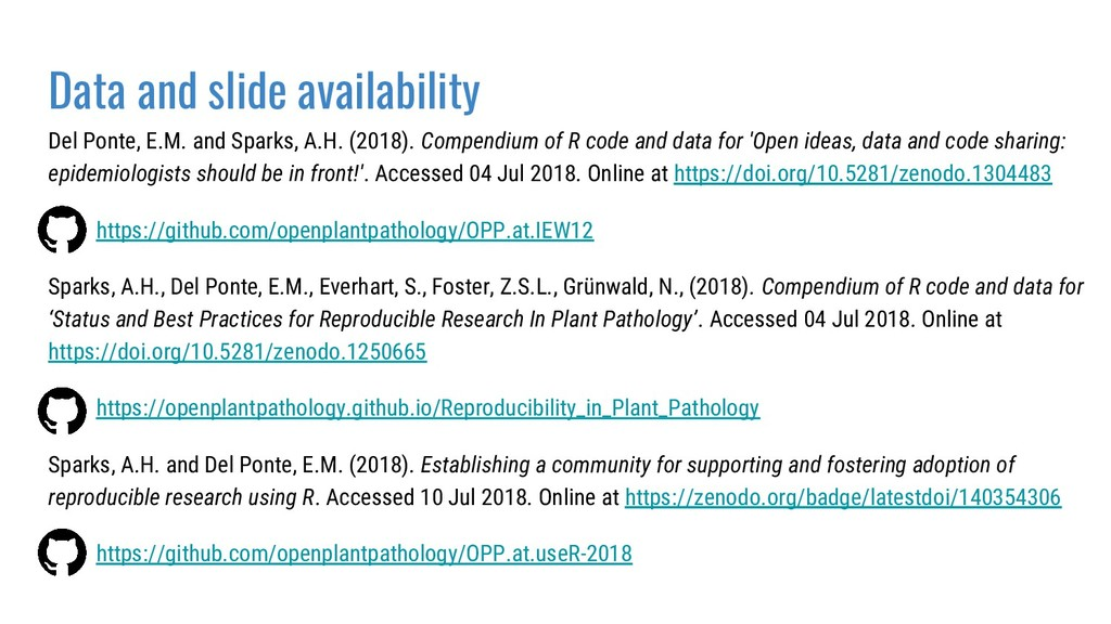 Data and slide availability Del Ponte, E.M. and...