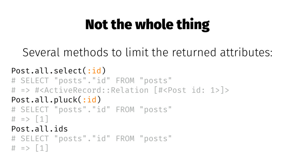 Not the whole thing Several methods to limit th...