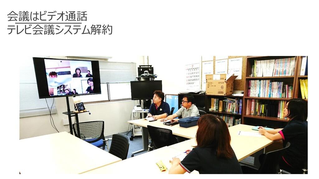 会議はビデオ通話 テレビ会議システム解約