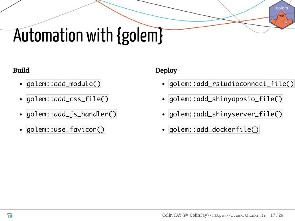 Build golem::add_module() golem::add_css_file()...