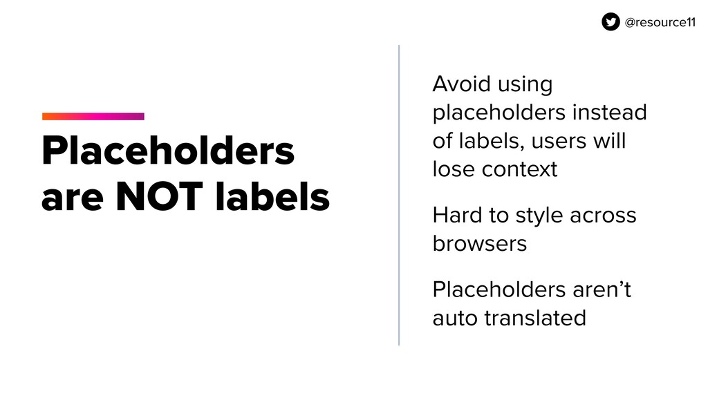 @resource11 Placeholders are NOT labels Avoid u...