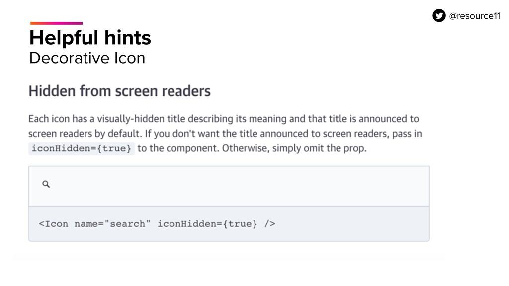 Helpful hints Decorative Icon @resource11