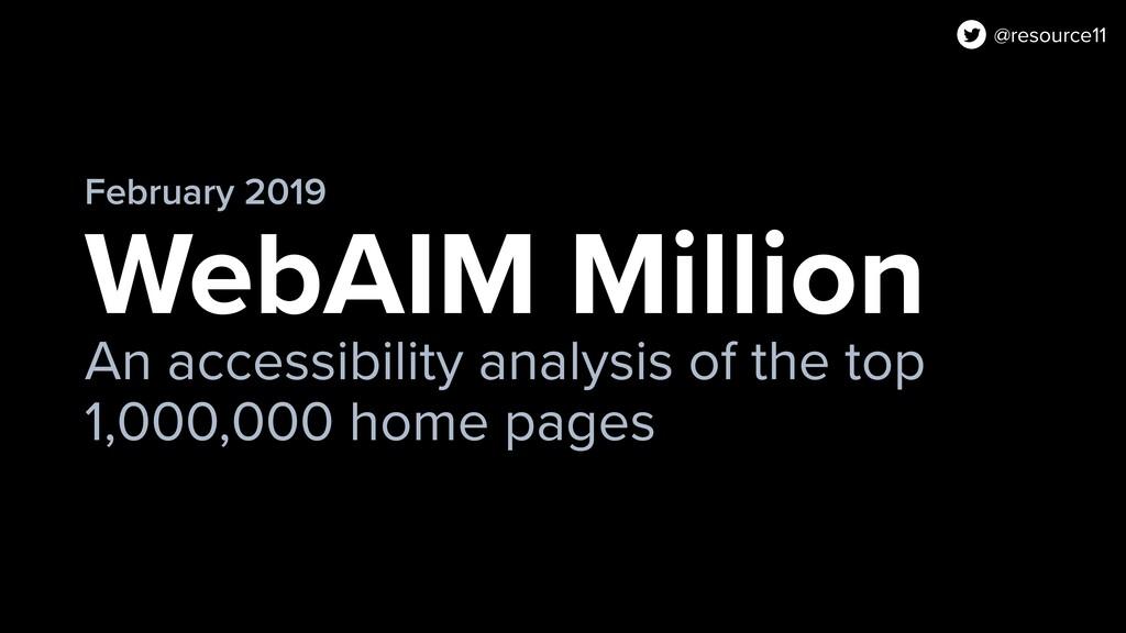 WebAIM Million An accessibility analysis of the...