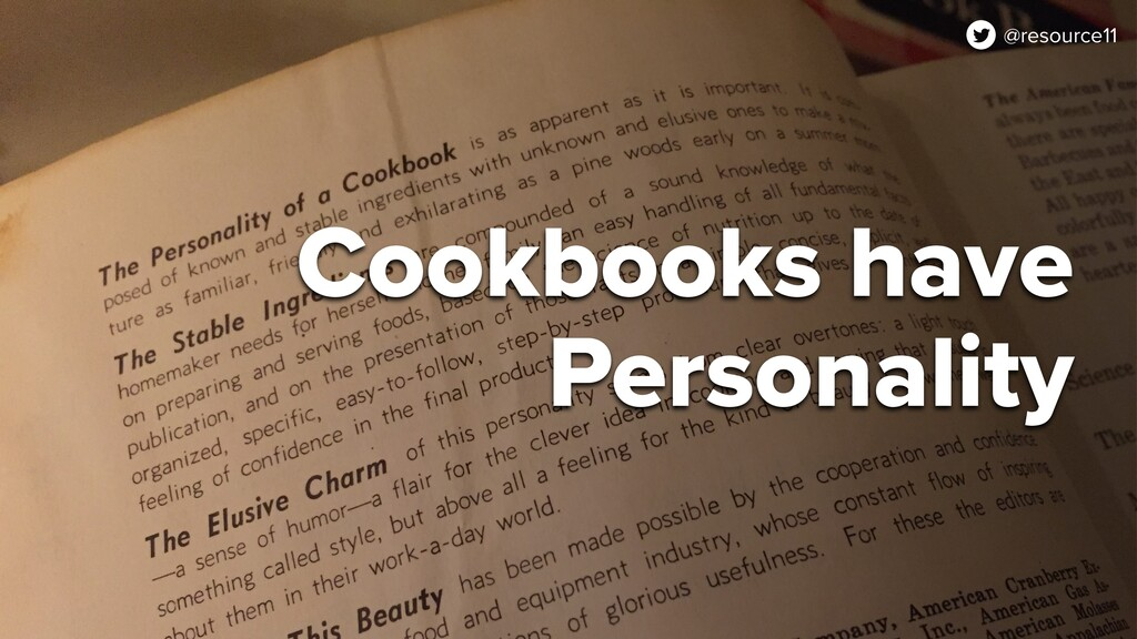 @resource11 Cookbooks have Personality @resourc...