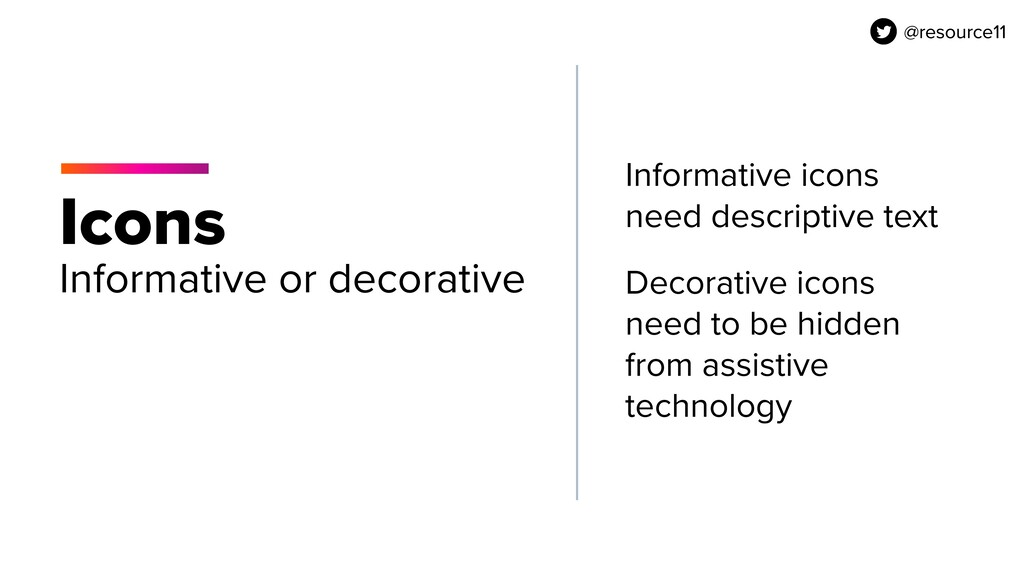 @resource11 Icons Informative or decorative Inf...