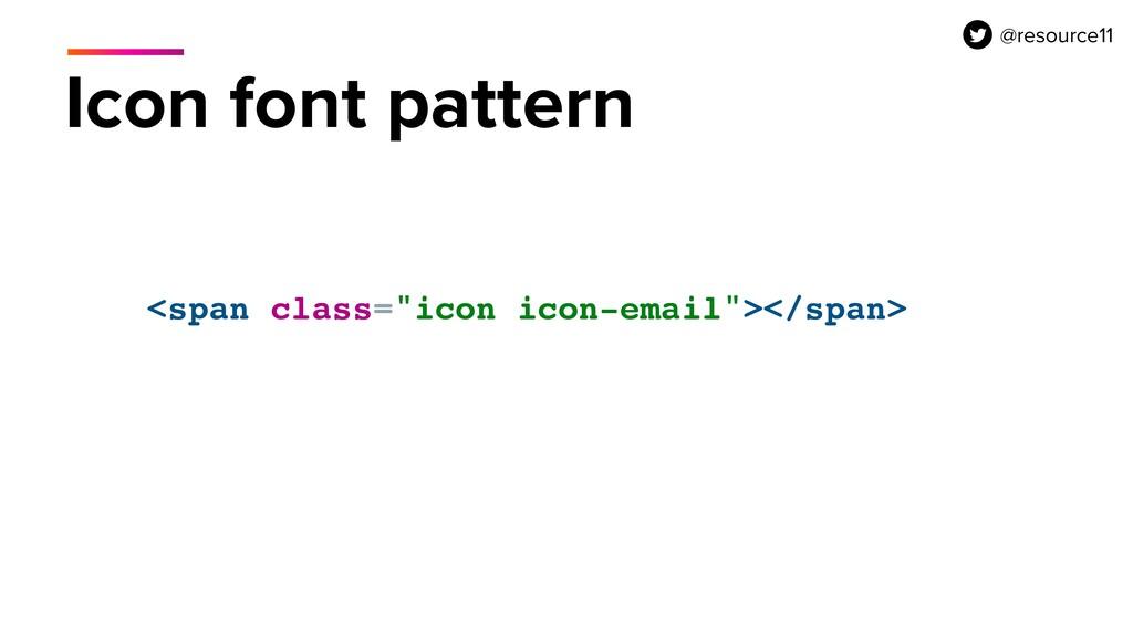"<span class=""icon icon-email""></span> Icon font..."