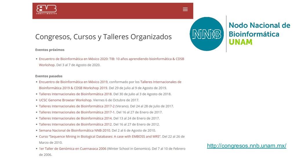 http://congresos.nnb.unam.mx/