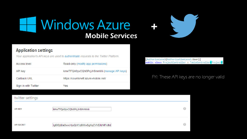 Mobile Services + FYI: These API keys are no lo...