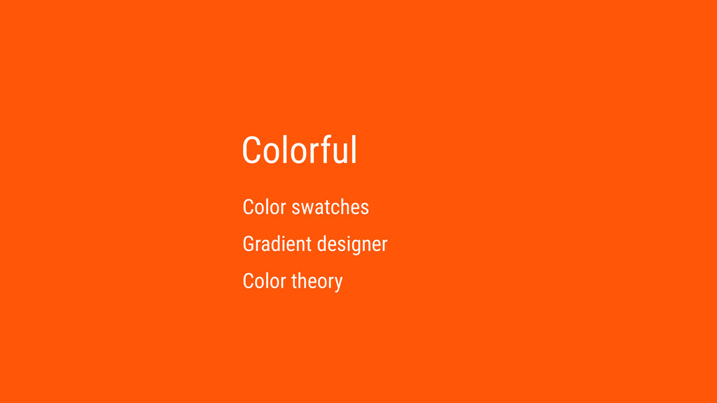 Colorful Color swatches Gradient designer Color...