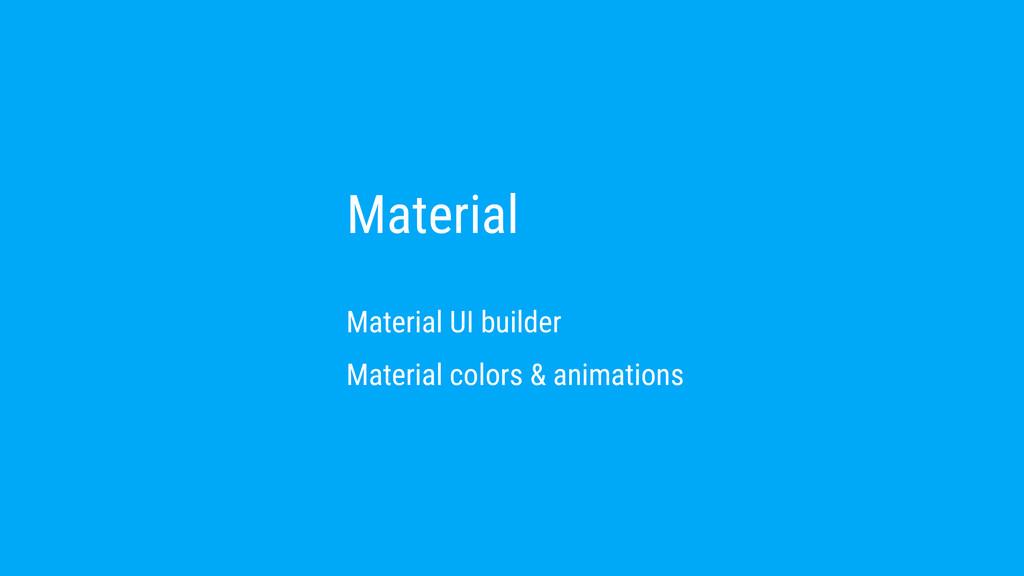 Material Material UI builder Material colors & ...