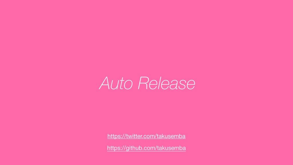 Auto Release https://github.com/takusemba https...
