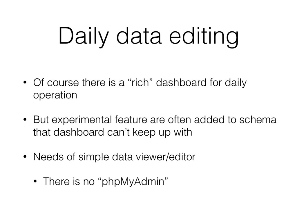 """Daily data editing • Of course there is a """"rich..."""
