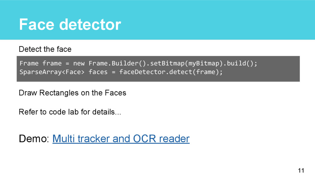 Face detector Detect the face Draw Rectangles o...