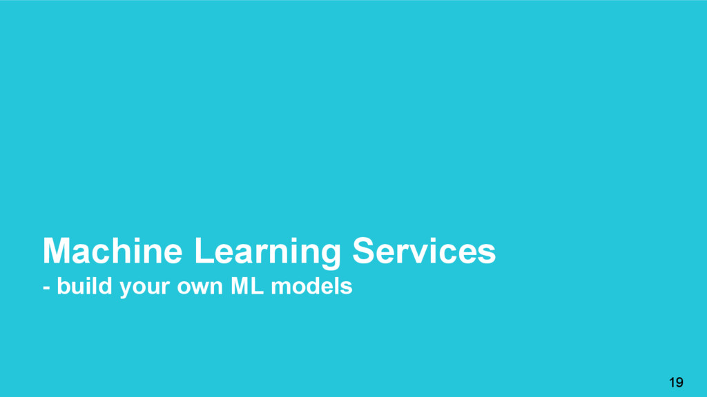 Machine Learning Services - build your own ML m...