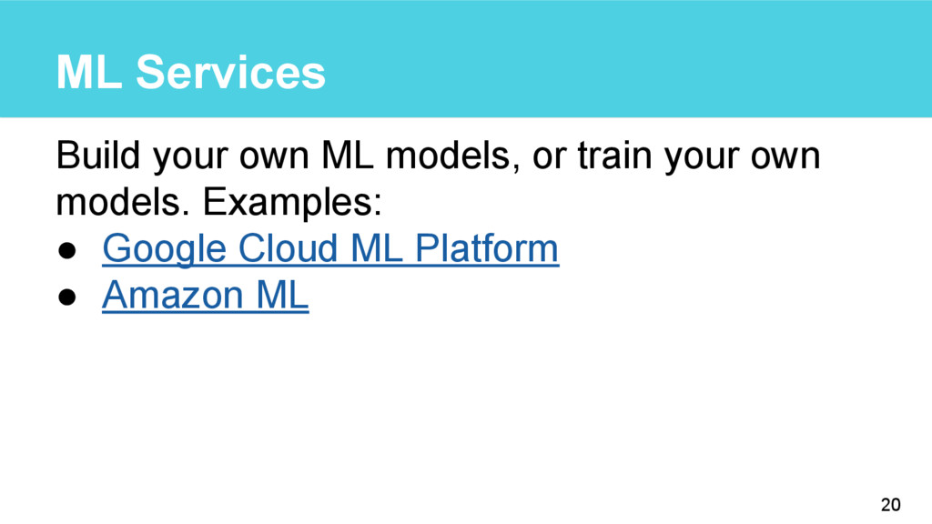 ML Services Build your own ML models, or train ...