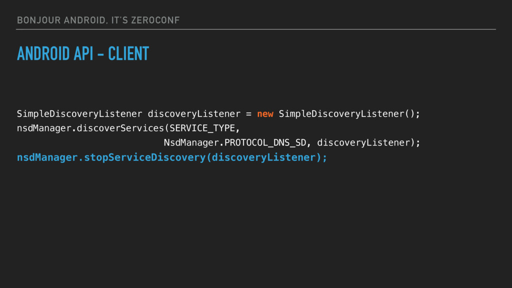 BONJOUR ANDROID, IT'S ZEROCONF ANDROID API - CL...