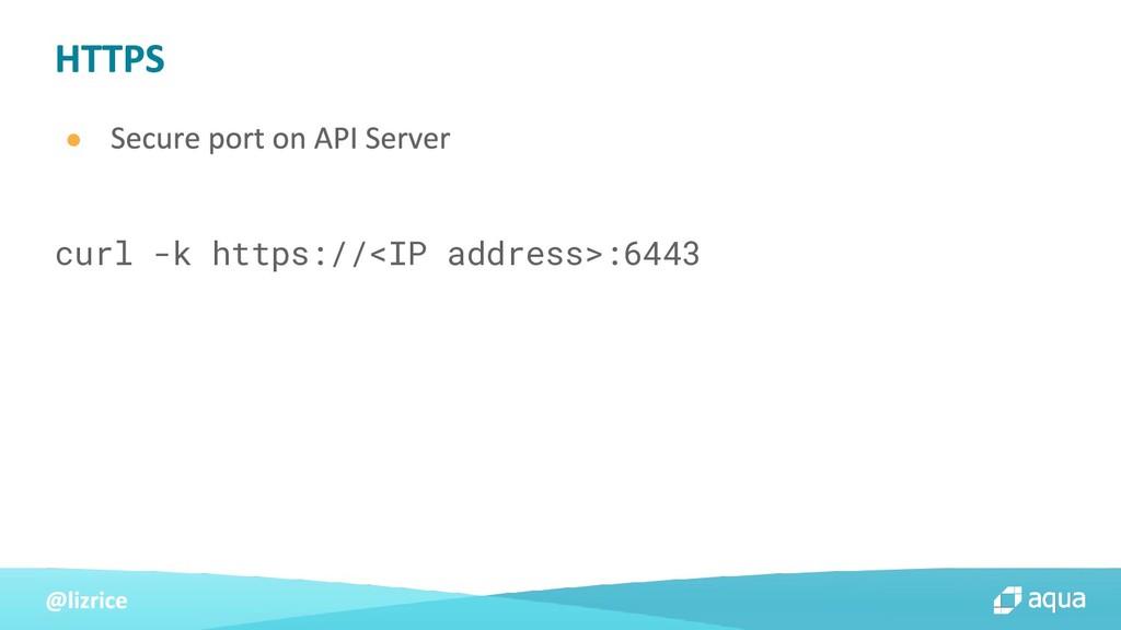 ● curl -k https://<IP address>:6443