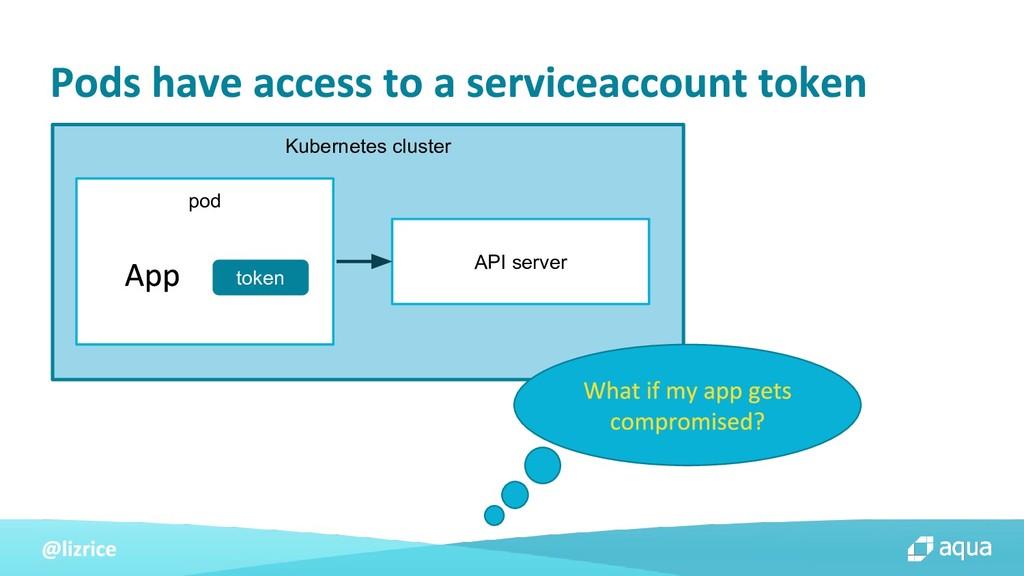 Kubernetes cluster pod token API server