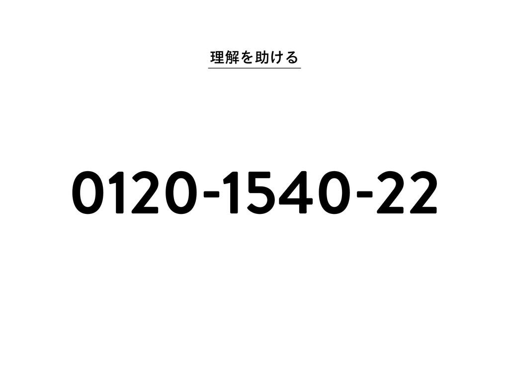 ཧղΛॿ͚Δ 0120-1540-22