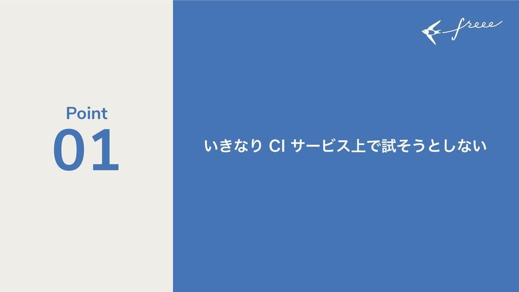 ͍͖ͳΓ$*αʔϏε্Ͱࢼͦ͏ͱ͠ͳ͍ 01 Point