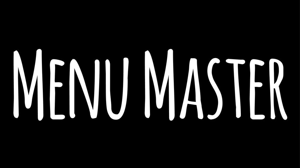 Menu Master