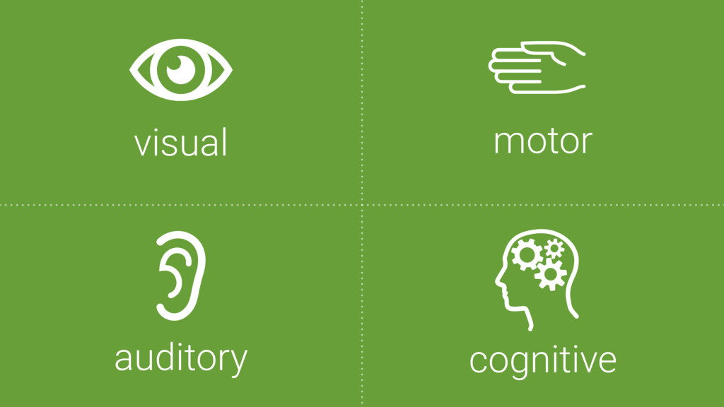 visual auditory cognitive motor