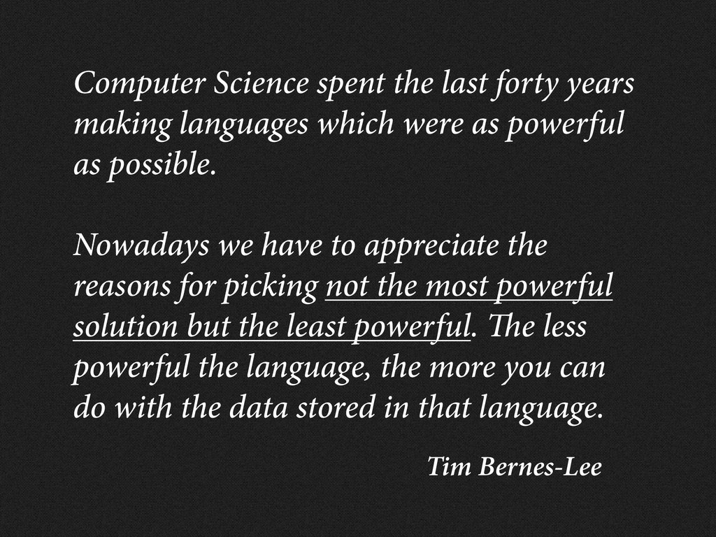 Tim Bernes-Lee Computer Science spent the last ...