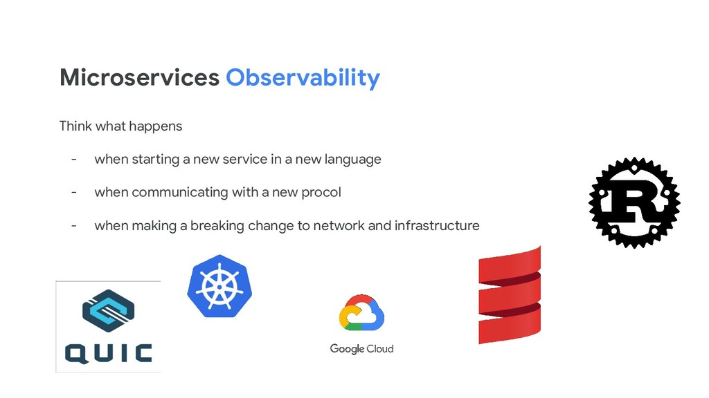 Microservices Observability Think what happens ...