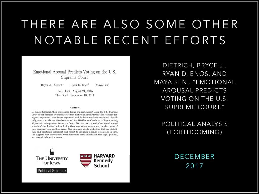 DECEMBER 2017 DIETRICH, BRYCE J., RYAN D. ENOS,...
