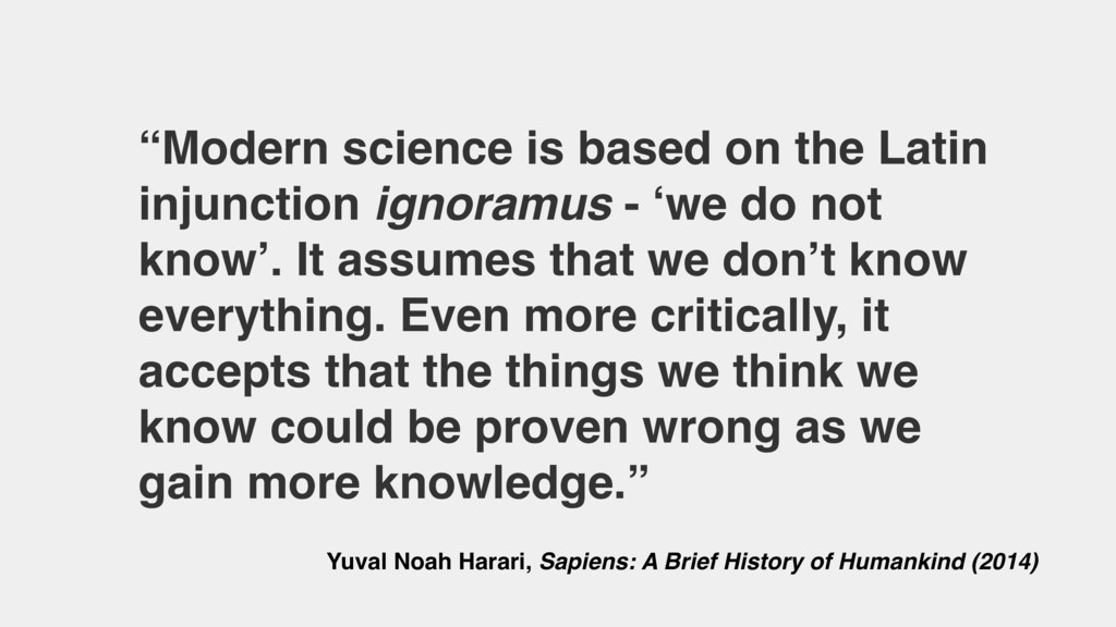 """""""Modern science is based on the Latin injunctio..."""