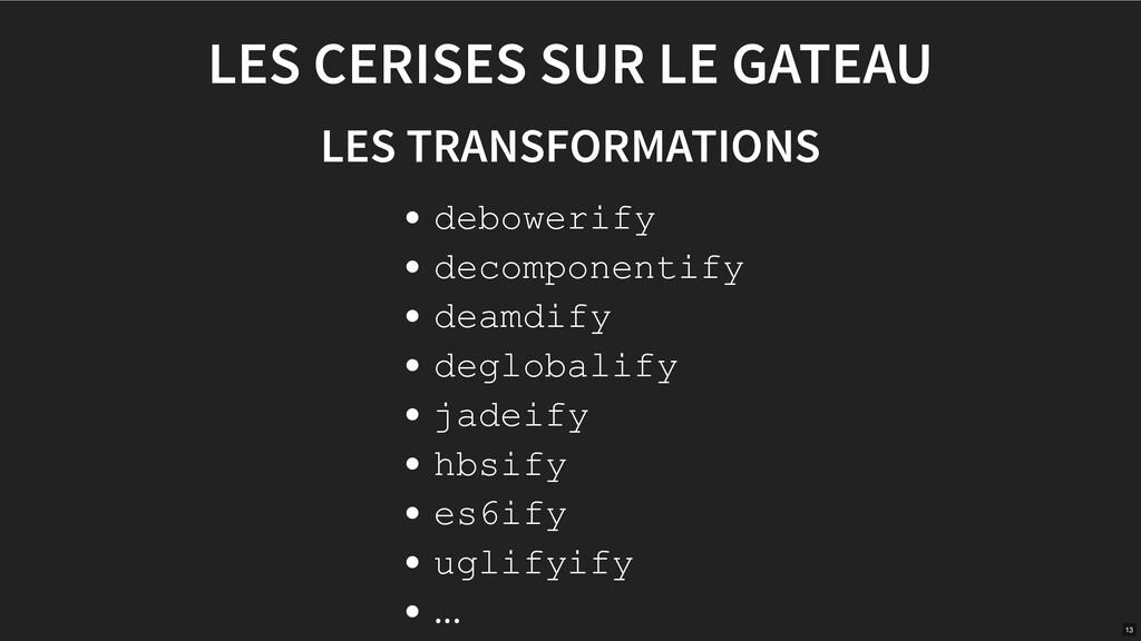 LES CERISES SUR LE GATEAU LES TRANSFORMATIONS d...