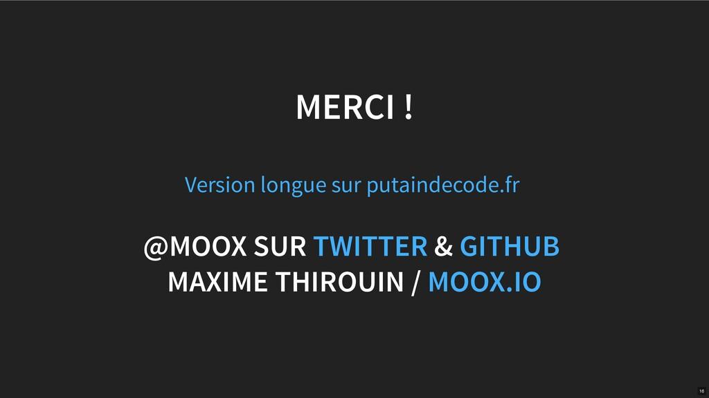 MERCI ! @MOOX SUR & MAXIME THIROUIN / Version l...
