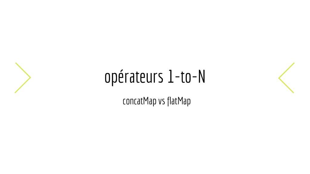 opérateurs 1-to-N concatMap vs flatMap
