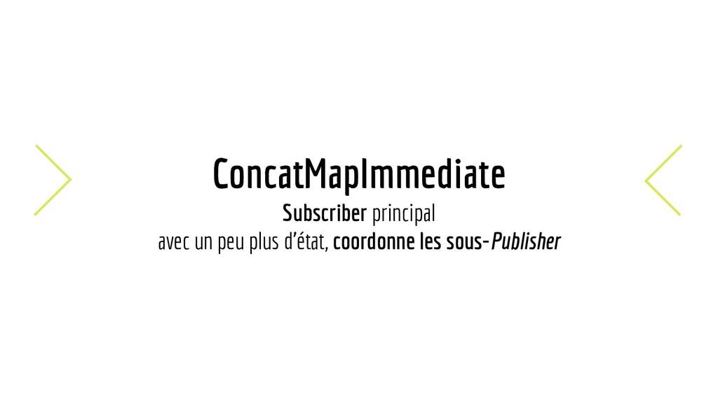 ConcatMapImmediate Subscriber principal avec un...