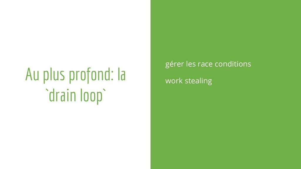 Au plus profond: la `drain loop` gérer les race...