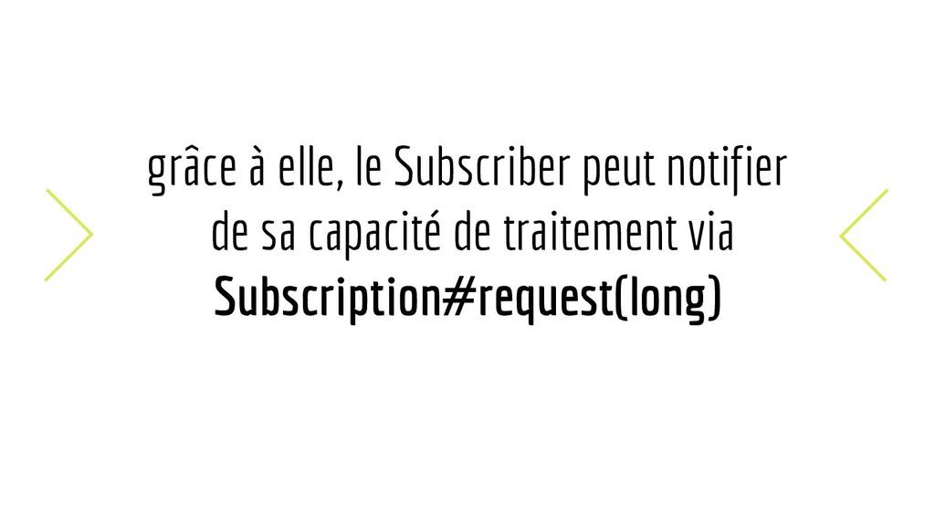 grâce à elle, le Subscriber peut notifier de sa...