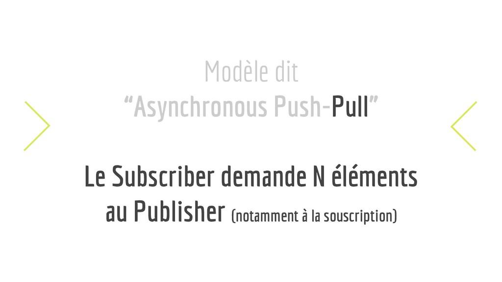 "Modèle dit ""Asynchronous Push-Pull"" Le Subscrib..."