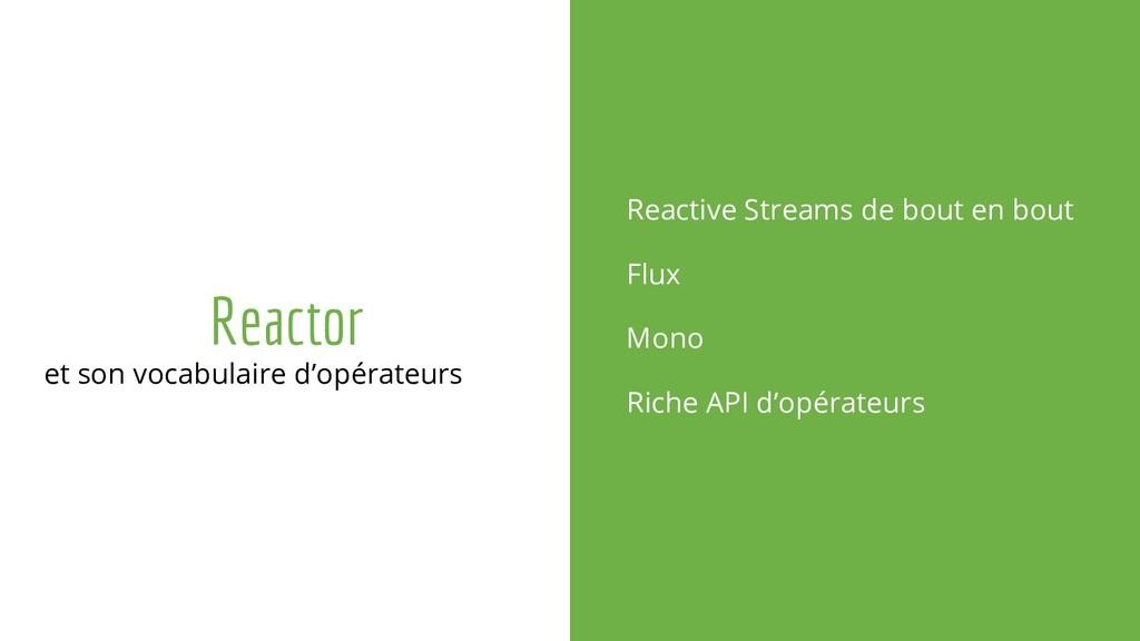 Reactor et son vocabulaire d'opérateurs Reactiv...