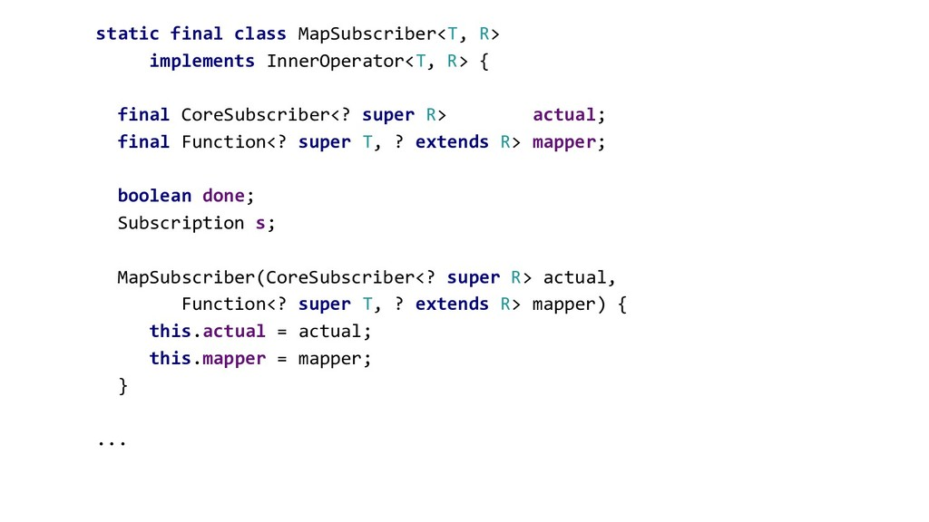 static final class MapSubscriber<T, R> implemen...