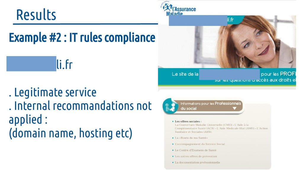 Results Example #2 : IT rules compliance social...