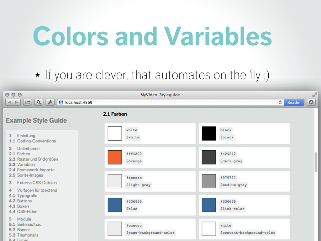 Colors and Variables ★ If you are clever, that ...