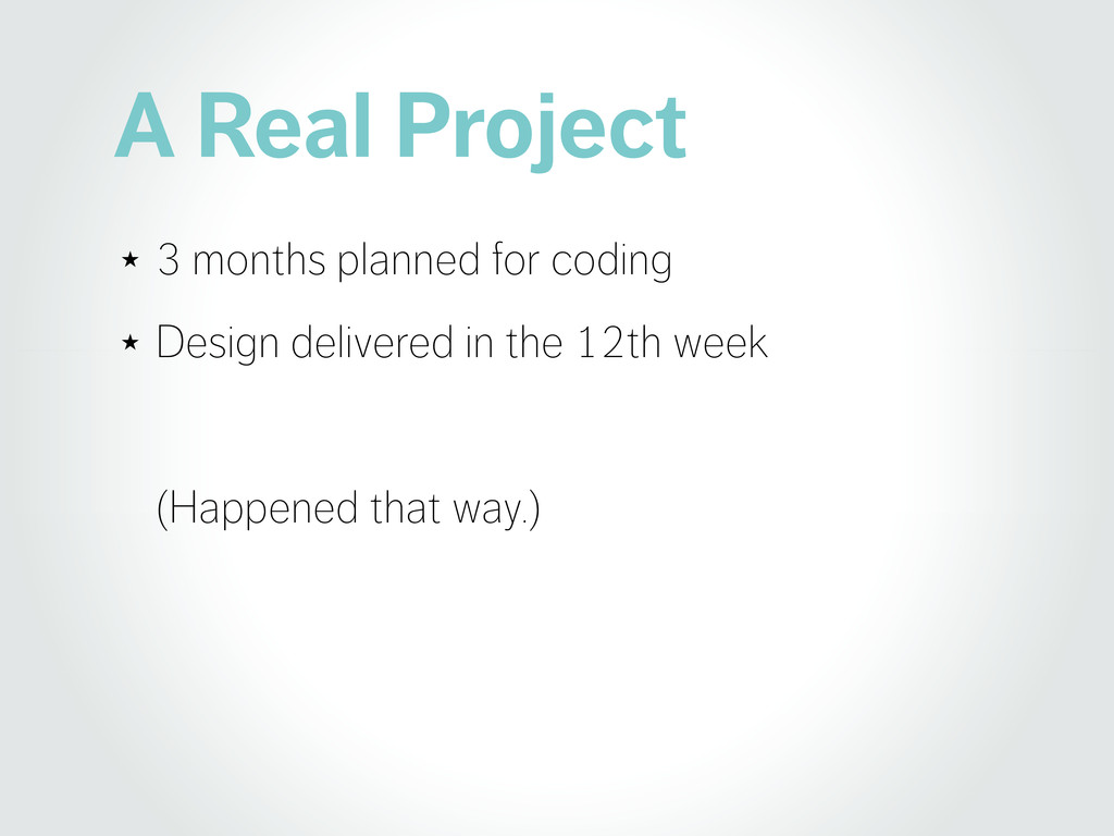 A Real Project ★ 3 months planned for coding ★ ...