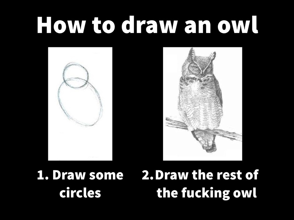 1. Draw some circles 2. Draw the rest of the fu...