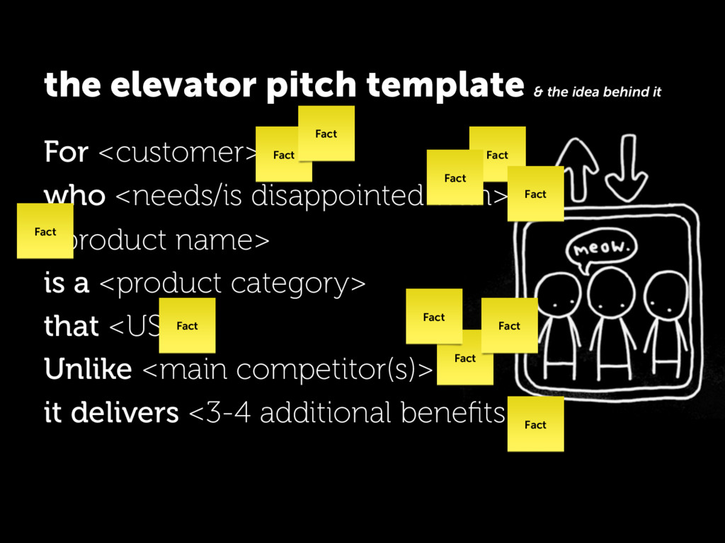 the elevator pitch template & the idea behind i...