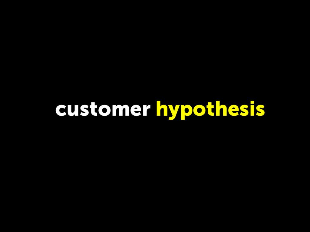 customer hypothesis