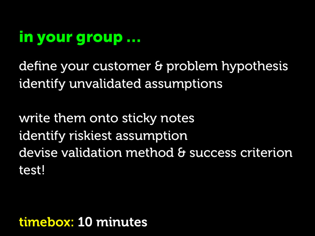 in your group … define your customer & problem h...