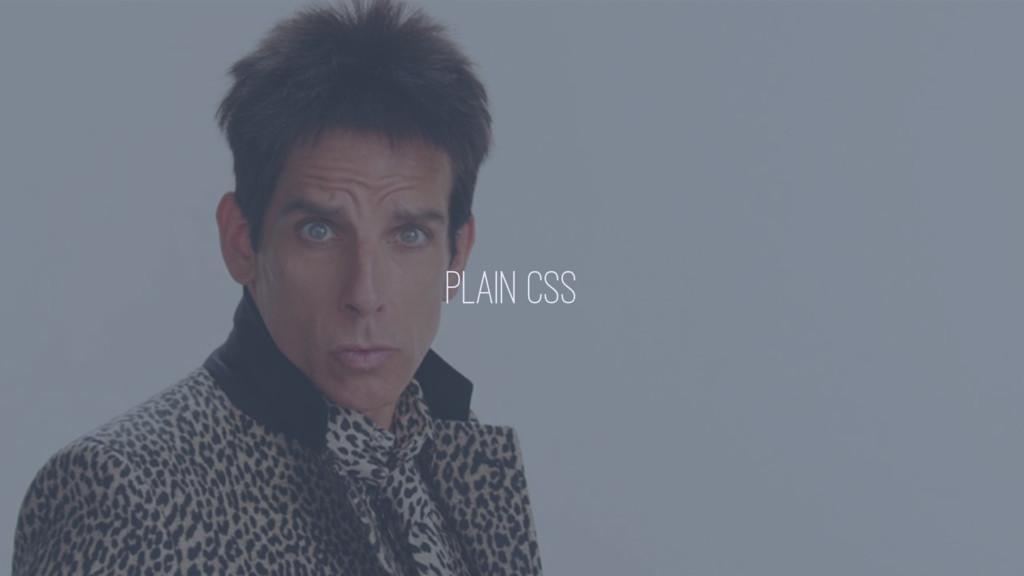 PLAIN CSS