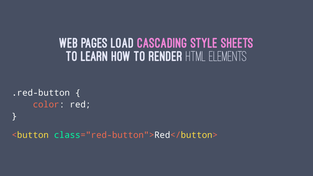 Web pages load Cascading Style Sheets to learn ...