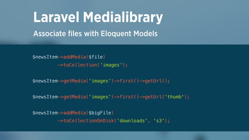Associate files with Eloquent Models Laravel Med...